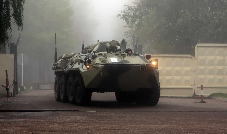 танк, бтр, лесу, техника, боевая,