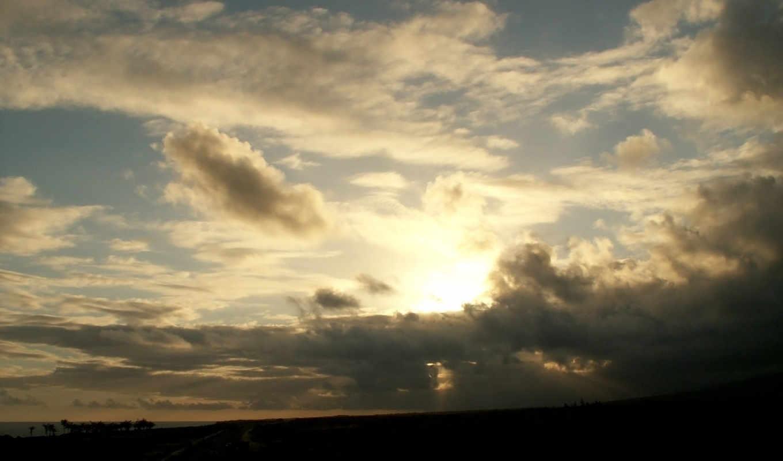солнце, небо, scenery, resim, barcelona, земля,