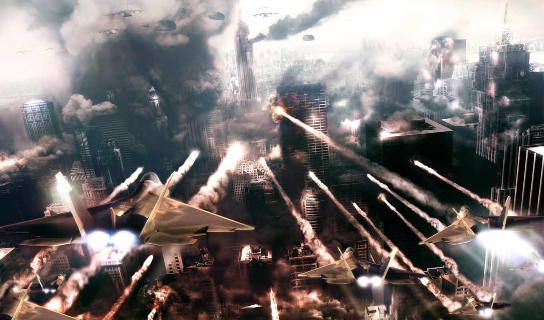 prototype, город, самолеты, война, воины, фантастика, maxsvs, iphone, www,