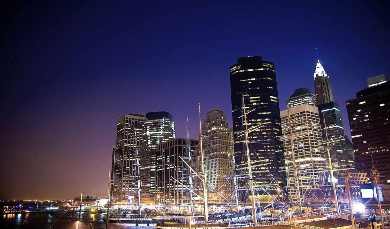 город, new, городские, design, креатив, страница, пейзажи -, ночь, usa,