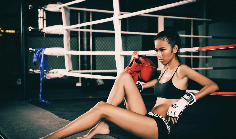 девушка, спорт, тренировочный,