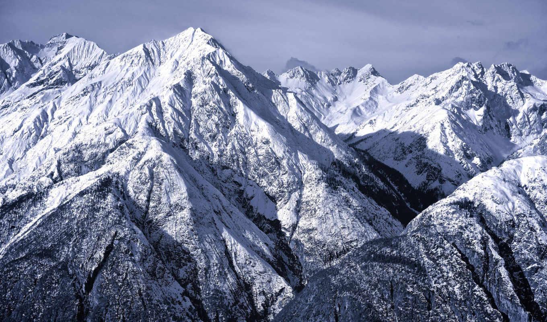 горы, природа, альпы, картинка, winter,