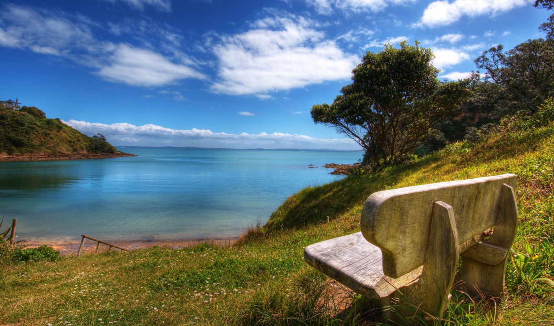 скамейка, моря, صور, wallpapers, песок, небо, море, природа, wallpaper, nature, من, الطبيعة, اجمل,
