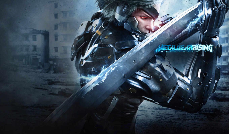 gear, металл, rising, revengeance, raiden, solid,