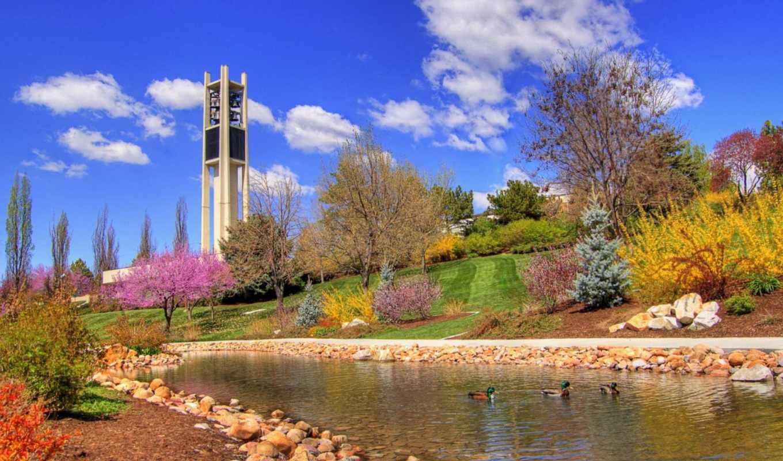 весна, весенние, красивые, пришла, парке, possible,