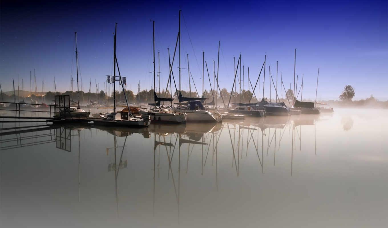 пейзажи -, корабли, лодки, water, яхты, гавань, катера, широкоформатные, море, pier, лодка,