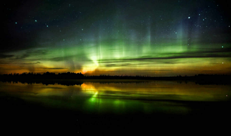 aurora, borealis, desktop, free,