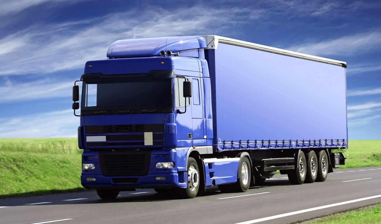 truck, синяя, от, album, перевозки, road, предложение,
