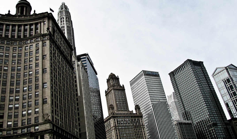 сша, здания, высотки, небоскребы, america, небо, иллинойс, chicago, usa, центр, похожие,