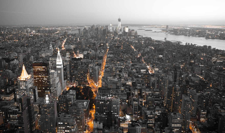 нью, york, город, вертикальный, new