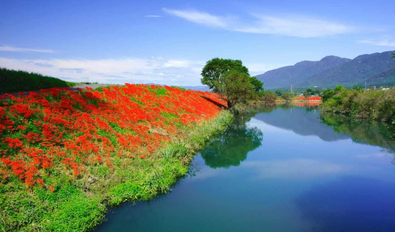 природы, пейзажи, весенние, красивой, прекрасными, уголками, весна,