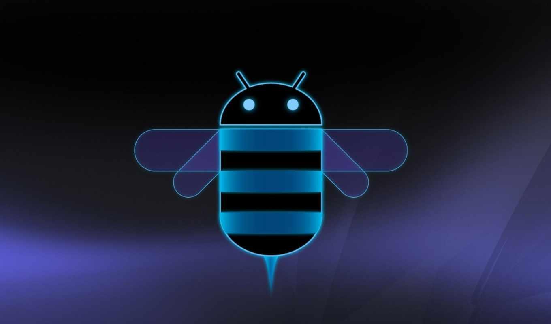android, honeycomb, logo, dark, blue