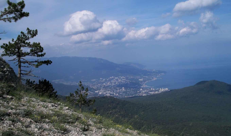 горы, oblaka, красавица, пейзажи -, фотообои, закат, между, гора, гор,