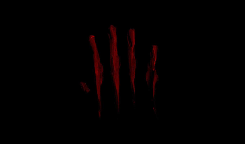 отпечатки, красные, полосы, черный,