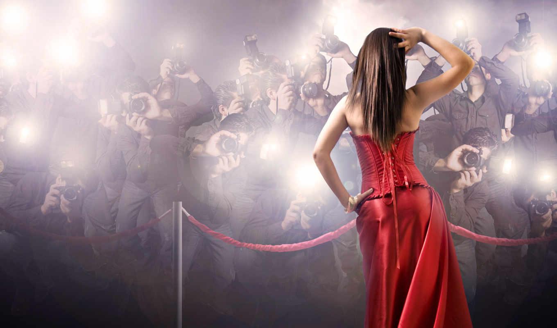 платье, девушка, красное, широкоформатные,
