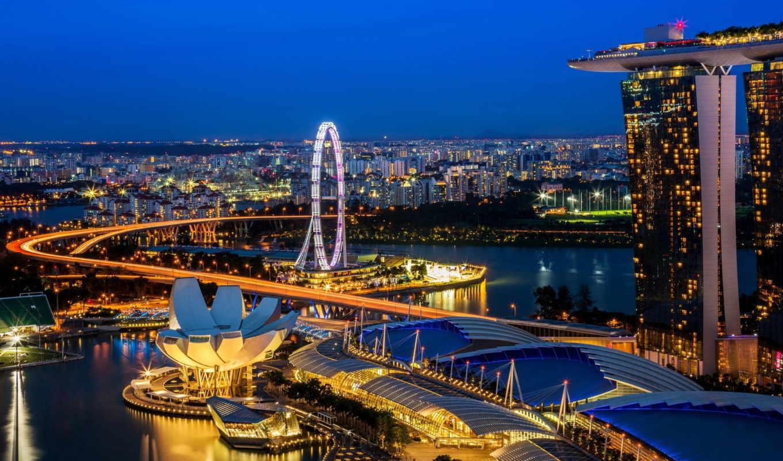 singapore, город, достопримечательности, города, сингапура, самых,