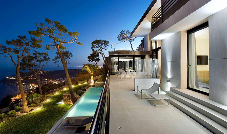 море, villa, берегу, во, мер, sur, роскошная, городе, côte, видом, лазурном, bayview, вильфранш, villefranche, расположена, французской,