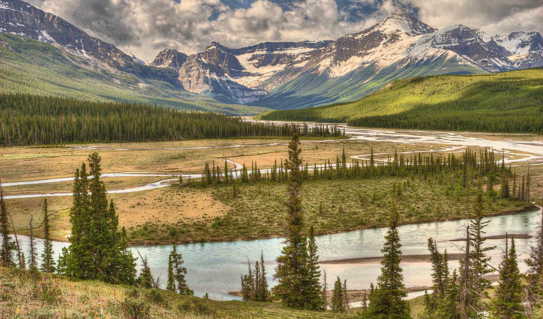 природа, река, горы, лес, телефон, категории,