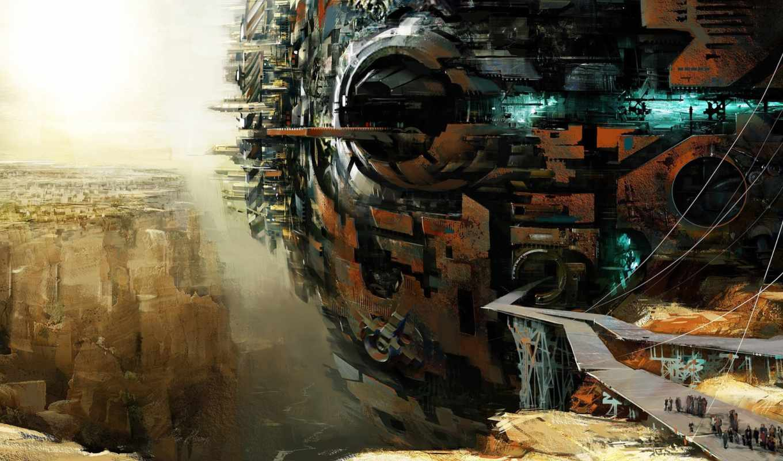 ,будущего, город, fantasy, фантастика, sci, art,