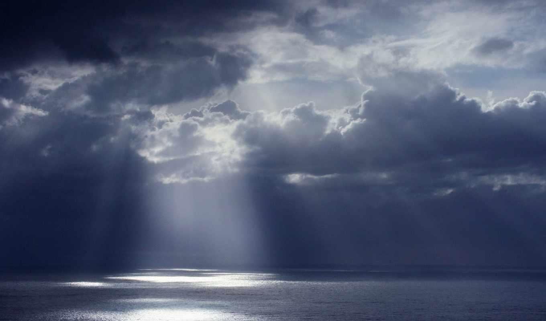 dark, небо, clouds, пасмурный, фон, природа, rays,