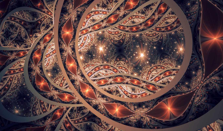 страница, абстракция, узоры, формы, htc, листва, dark, линии, fractal,