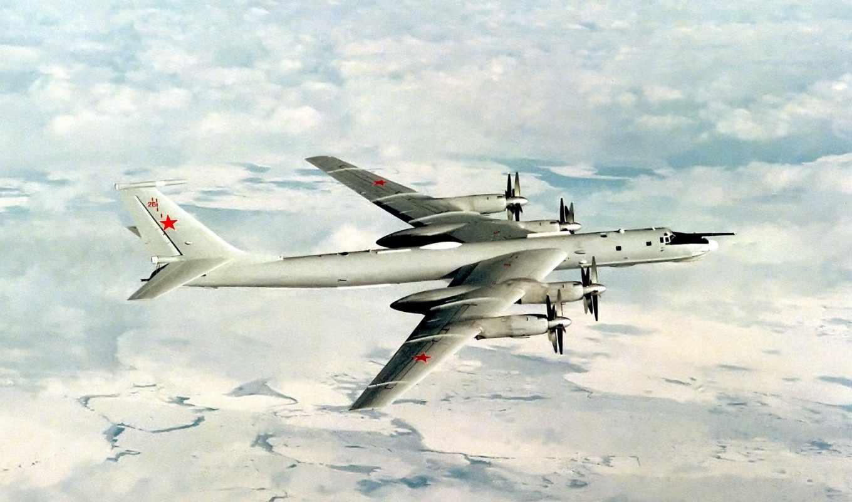 стратегический, бомбардировщик, ракетоносец, медведь, Ту-95,Ту-95МС,