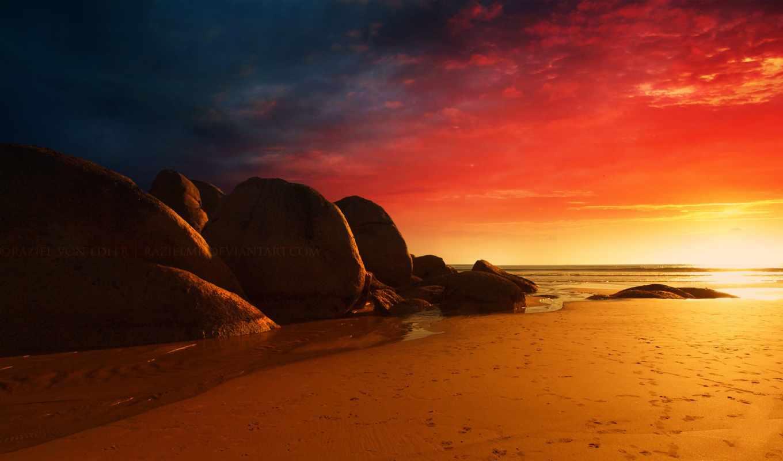 закат, фоны, горах, winter, вечер, огонь, заставки, красивые,