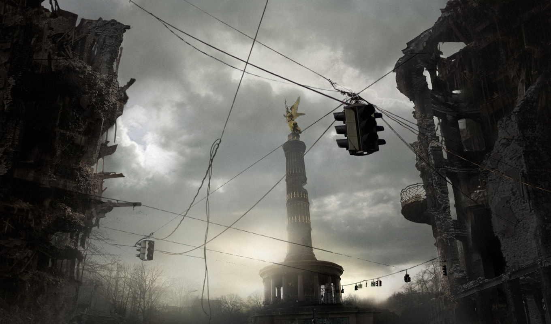 развалины, город, совершенно, категория, города,