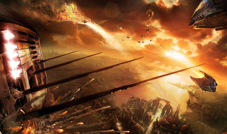 миров, war, fantasy, фантастика, бой, игры, закат,