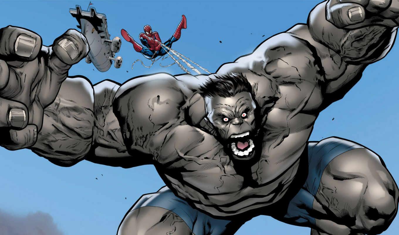 hulk, мужчина, серый, паук, resolution, high,