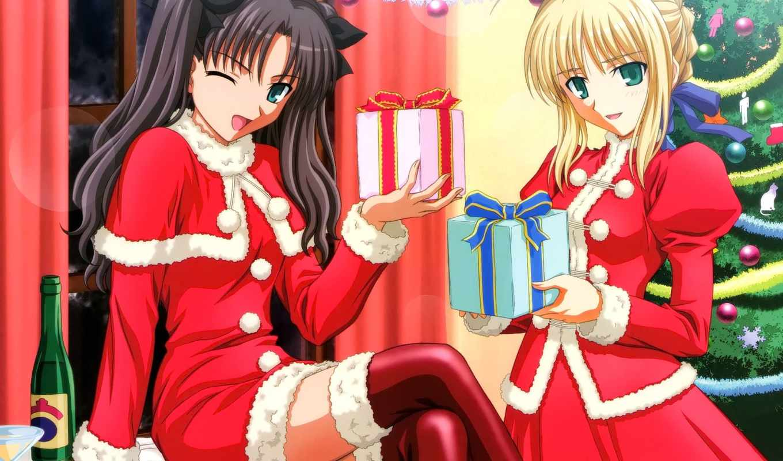 anime, новогодние, new, год, nightcore, снегурочки, вконтакте, шампанское, украшения, devushki, девушка,