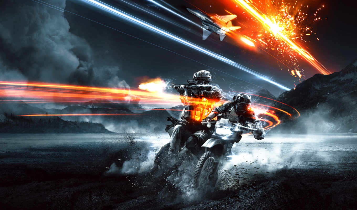battlefield, game, end, pack, best, загрузки, мотоцикл, download,