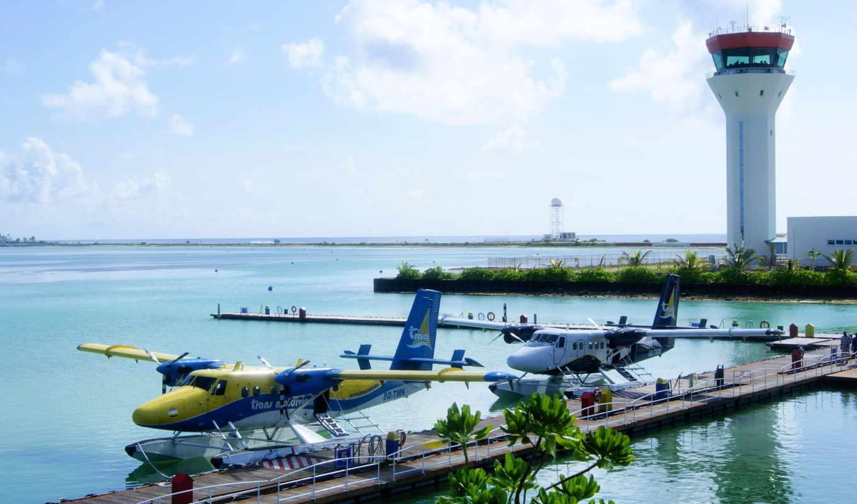 maldives, самолёт, атолл, airport,