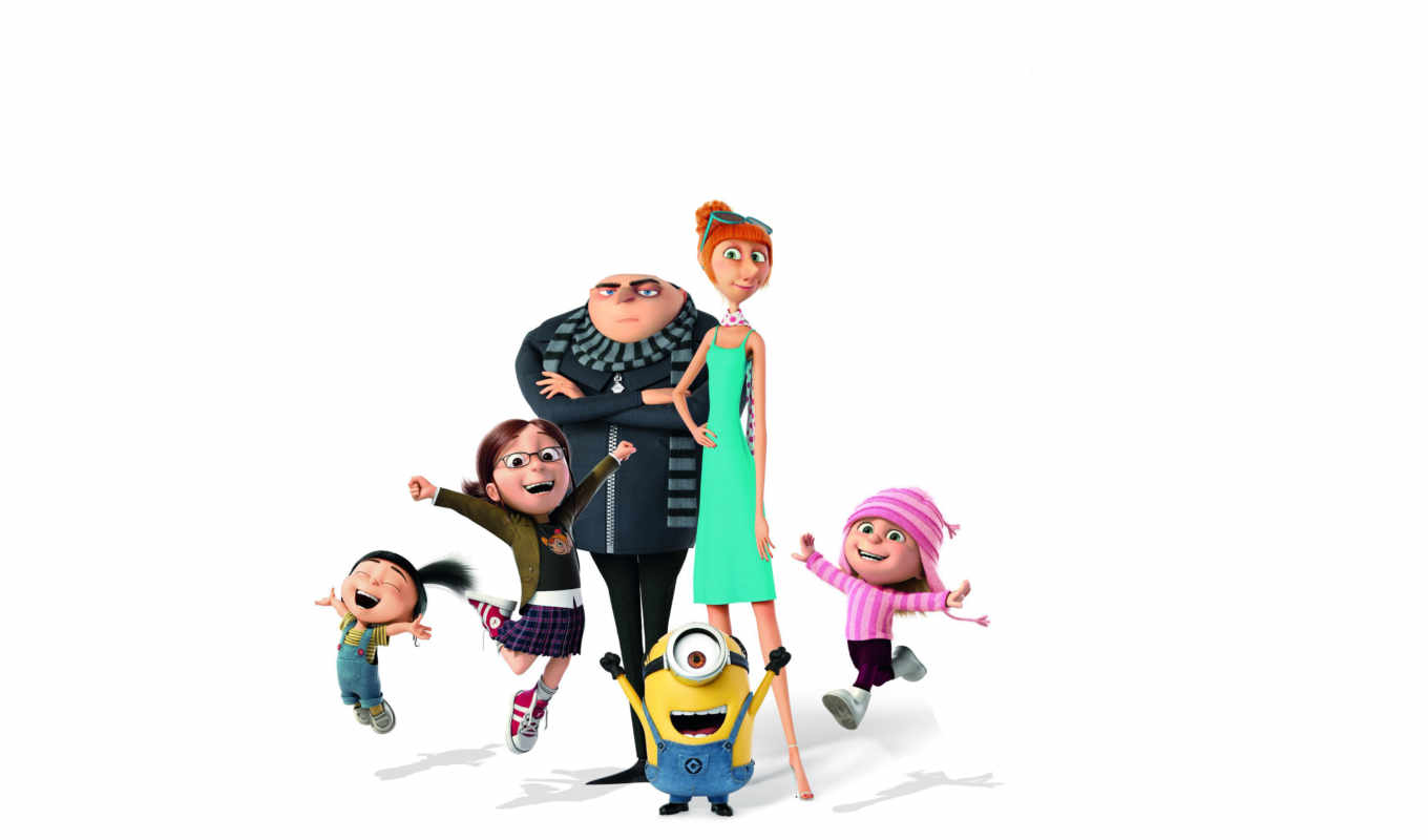 despicable, minions, гру, movie, agnes, edith, lucy,