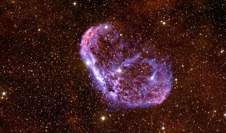 полумесяц, туманность, ngc, pix, nebulae, туманности, её, звезда, objects, чтобы, туманність, crescentnebel, field, deep,