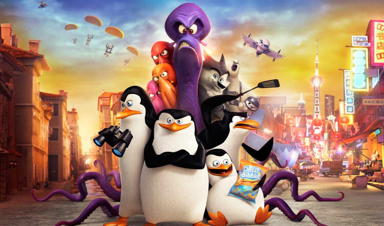 мадагаскар, penguins, пингвины, мадагаскара, нов, впервые, день, goodfon, cash, самый,
