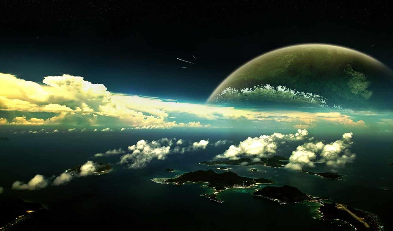 космос, атмосфера, планеты,