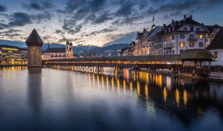 lucerne, latar, швейцария, name, gambar, belakang,