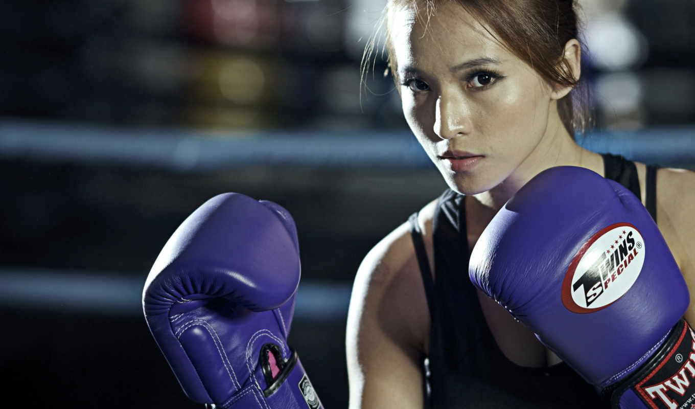бокс, спорт, девушка,