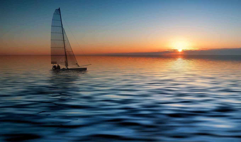 море, яхта, лодка, sail, высоком,