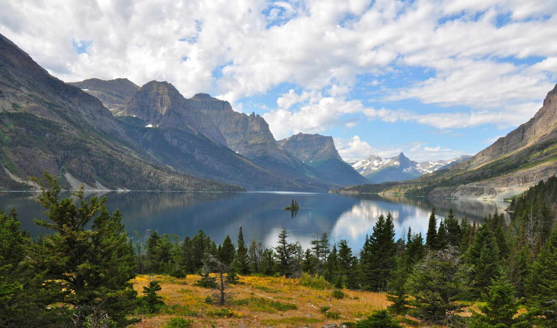 landscape, природа, парки, озеро, горы, waterton, мэри,