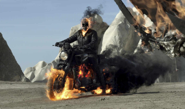 гонщик, ghostly, фильма, дым, огонь,