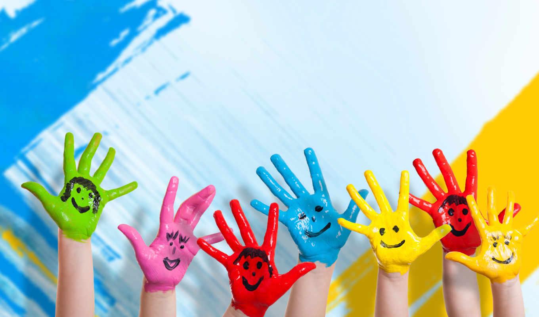 счастье, children, hands, улыбка, drawing,