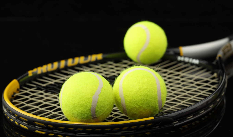 ракетка, теннис, макро, balls, спорт, теннисные, картинка,