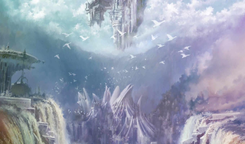 aion, eternity, tower, игры, синее, компьютерные,