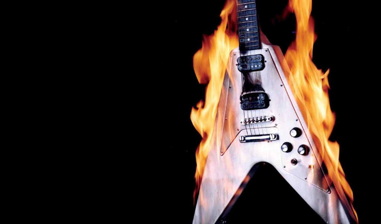 guitar, burning, desktop, подборка, отличных,