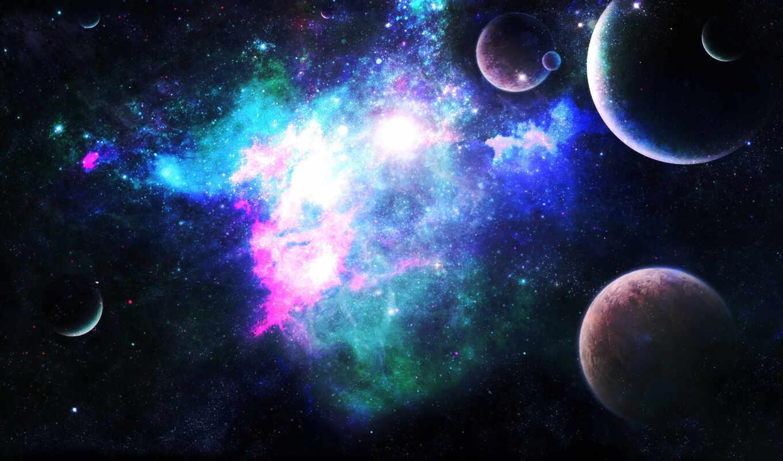 космос, арт, планеты,