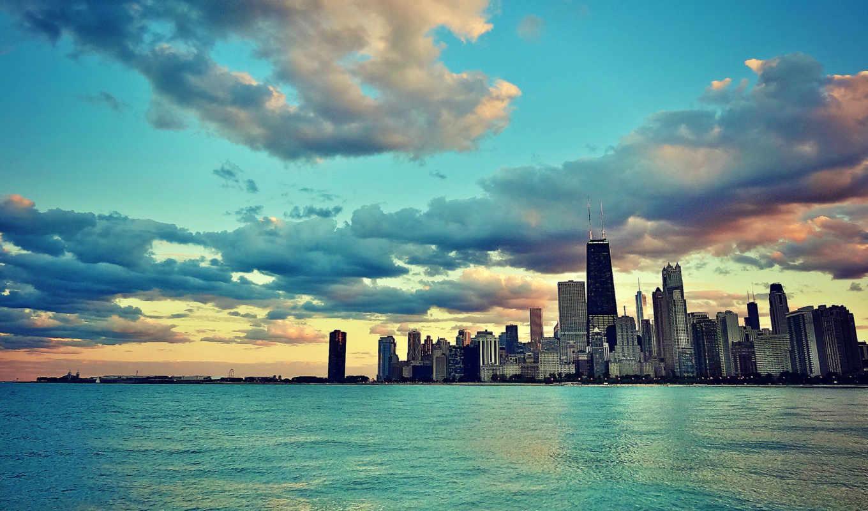 chicago, galaxy, america, usa, иллинойс, небоскребы, здания, edge,