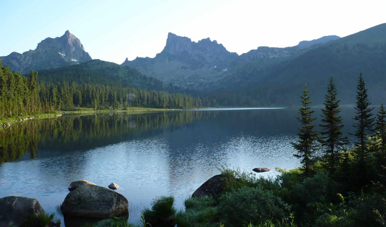 панорама, горы,