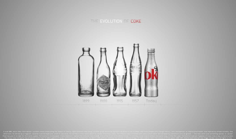 эволюция, бутылки, кока, кола, дизайн, годы, coke,